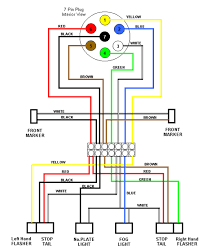 nice design trailer light wiring diagram picture ground to vehcile white black green red yellow cable