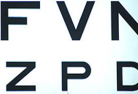 Faa Near Vision Acuity Chart Inside An Eye Exam