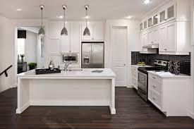 modern white kitchens with dark wood floors. Plain Kitchens Modern White Kitchen Dark Floor Photo  9 Throughout Kitchens With Wood Floors R
