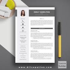 Modern Coverter Creative Resume Template Cv Word Format Cover Letter