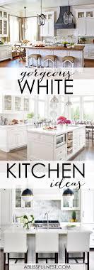 White Kitchen Idea Gorgeous White Kitchen Ideas Modern Farmhouse Coastal Kitchens