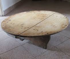 old wooden primitive low round dining rustic table 6 tall
