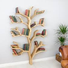 kids furniture bookcase in tree design book shelf handmade oak by the elm a practical