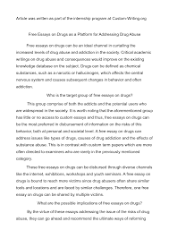 finished essays the academic support link drafting essay about  essay about drugs academic guide to writing basics of an essay essay about drugs