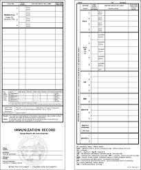 Printable Immunization Record Chart California Immunization Card Printable Room Surf Com