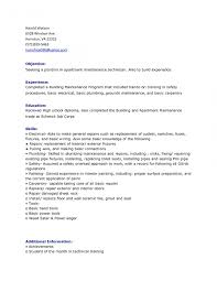 Resumer Maintenance Objective Technician Headline Mechanical