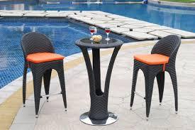 outdoor wicker bar set