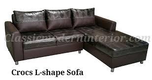 crocs l shape sofa classicmodern