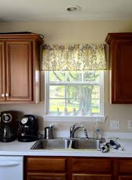 Kitchen Window Covering Kitchen Window Valance Ideas For Contemporary Kitchen With Modern