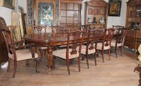 victorian dining table set chippendale chairs set suite gany