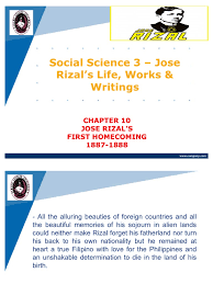 rizal life works writings summary manila