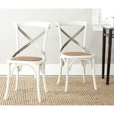 safavieh country classic dining eleanor antique white x back dining chairs set of 2