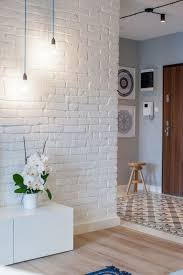 create an elegant statement with a white brick wall interior faux brick wall tiles