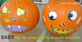 very cute and very easy for my preer and toddler to be able to decorate their own pumpkins