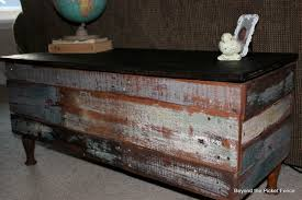Coffee Tables Out Of Pallets Beyond The Picket Fence Pallet Storage Bench Coffee Table Tutorial