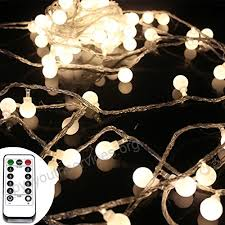 50 leds 16 feet globe led string lights with remote control timer battery operated indoor outdoor