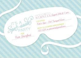 Free Spa Party Invitation Template Under Fontanacountryinn Com