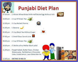 Diet Chart In Punjabi Language Punjabi Puns