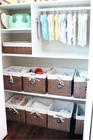 Gender neutral baby room and nursery closet organization idea - love it!