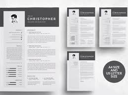 Word Template Cv 3 Pages Modern Resume Template Cv By Resume Templates Dribbble