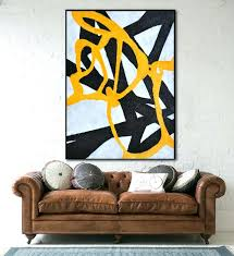 original painting large abstract art hand painted on canvas minimalist black white and pictures paint