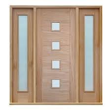 exio 2 panels satin glazed exterior door