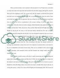 susan glaspell trifles gender roles essay example topics and text