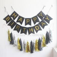 Gold Birthday Decorations Silver And Gold Birthday Banner Promotion Shop For Promotional