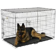 GoPetClub 48-inch 2-Door Folding Metal Dog Crate w/ Divider - Free Shipping  Today - Overstock.com - 13313223
