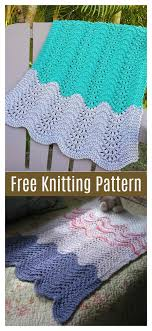 feather and fan car seat baby blanket free knitting pattern