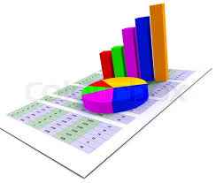 Pie Chart Indicates Stat Graphics And Stock Image