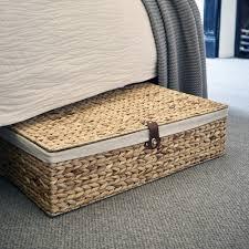 under bed storage furniture. Delighful Under Underbed Water Hyacinth Basket With Cotton Lining And Leather Fasten And Under Bed Storage Furniture U