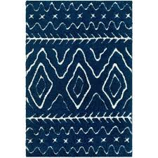 8 x 10 large navy blue and cream area rug cut and loop rc willey furniture