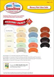 Fine Coat Paint Color Chart Masonry Paint Colour Indd Sandtex