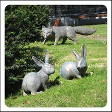 garden animal statues. Modren Statues Yard Art Bronze Rabbits And Fox Garden Animal Statues  Buy  StatuesRabbits StatuesBronze Product On Alibaba  With D