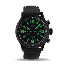men s military watch green chronograph waterresist 50m black zoom