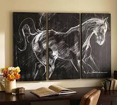 triptych wall art burlington mall horse planked wood