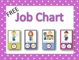 Free Job Charts Classroom Pinterest Classroom Job