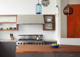 recycled granite kitchen contemporary with butcher block countertops debris fireclay tile flat panel cabinets gray