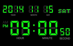 Digital Clock Wallpaper Free Download ...