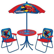 spider man 4 piece patio table and