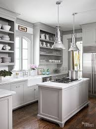 12 Gorgeous and Bright Light Gray Kitchens - A roundup of beautiful light  gray kitchen cabinets