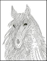 Horse Coloring Page For Adults Horse Adult Coloring Page Etsy