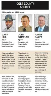 cole county sheriff candidates discuss crime central mo breaking and all three noted those problems aren t unique to cole county or mid missouri but are part of a national issue law enforcement is trying to address
