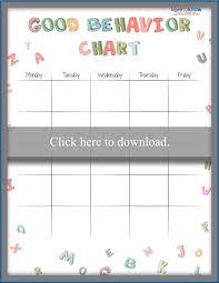 Blank Behavior Charts For Students 66 Unusual Sticker Chart For Behavior