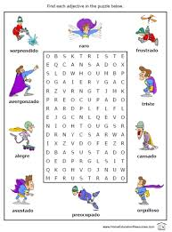 Small Picture Free Ser Estar and Adjectives worksheets Printable Spanish