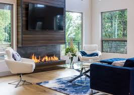 View in gallery TV wall and fireplace by Jordan Iverson
