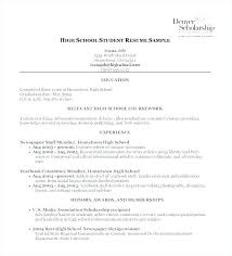 High School Student Resume Resume For A Student With No Experience ...
