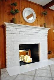 painted fireplace brick how to prep prime and paint a brick fireplace painted white brick fireplace before and after tiling over painted brick fireplace