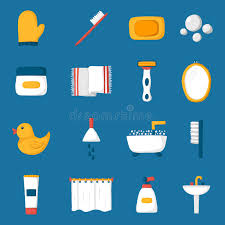 cartoon bathroom sink and mirror. Download Cartoon Bathroom Icons Stock Vector. Illustration Of Care - 68952940 Sink And Mirror
